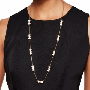 kate spade Jewelry - Kate Spade New York White Gold Take A Bow Necklace